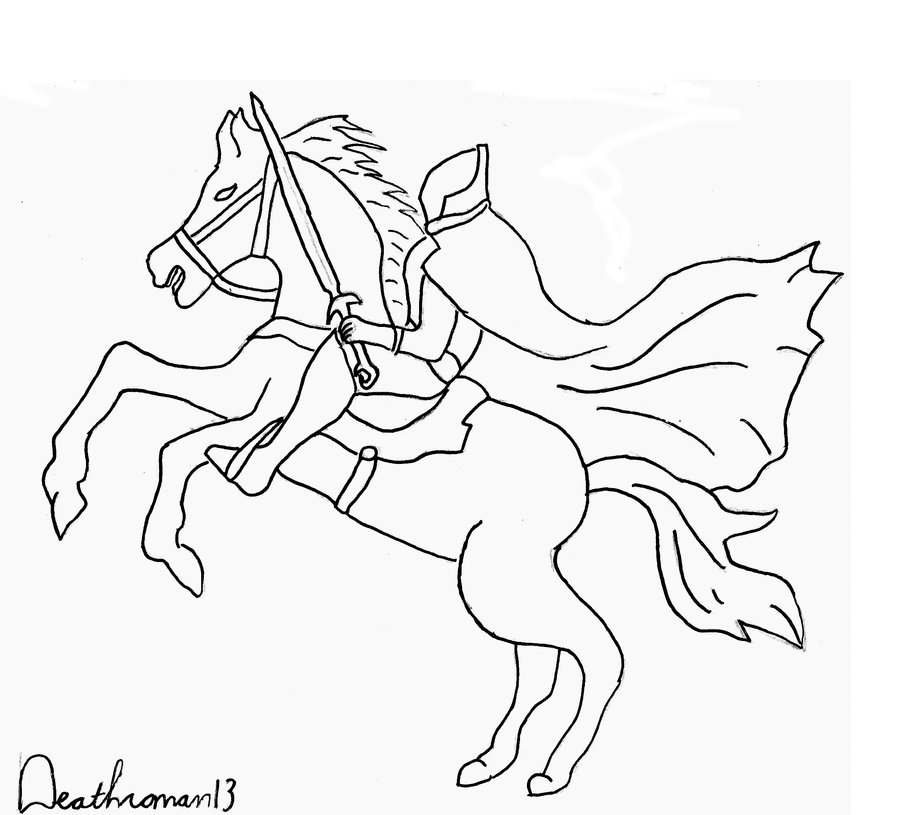 900x815 Top Sleepy Hollow Coloring Pages