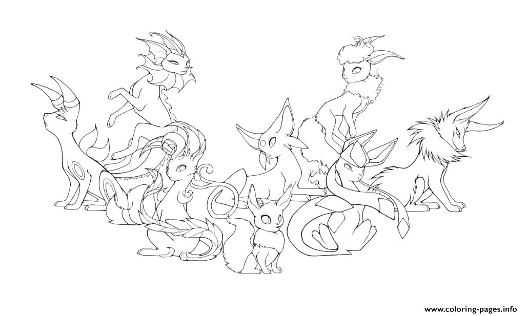 1024x617 Eevee Coloring Pages Coloring Page And Eevee Evolutions Coloring