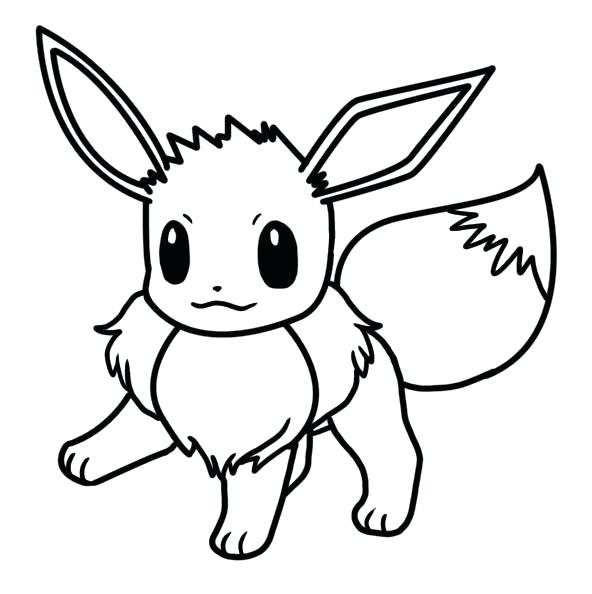 592x594 Eevee Coloring Pages Eevee Colouring Pages
