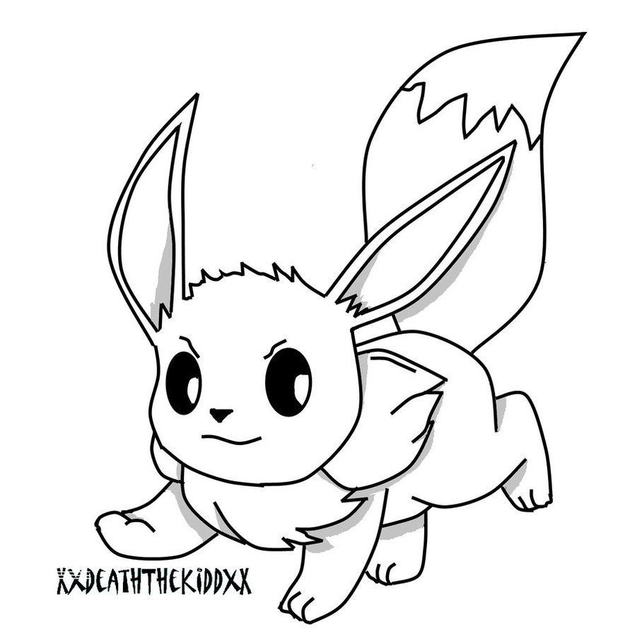 Eevee And Pikachu Coloring Pages At Getdrawings Com Free For