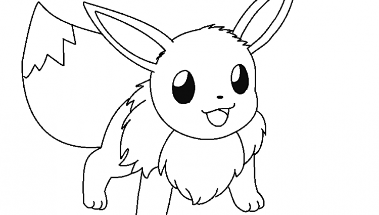 The best free Eevee coloring page images. Download from 50 free ...