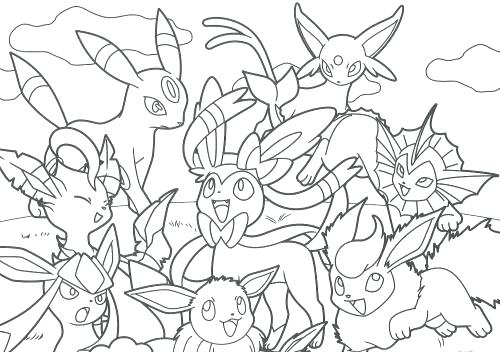 500x352 Eevee Coloring Pages And Friends Coloring Book Eevee Coloring