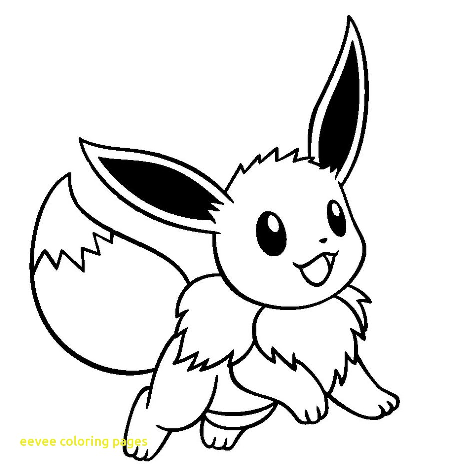 900x940 Eevee Coloring Pages With Pokemon Eevee Coloring Pages Wkweddingco
