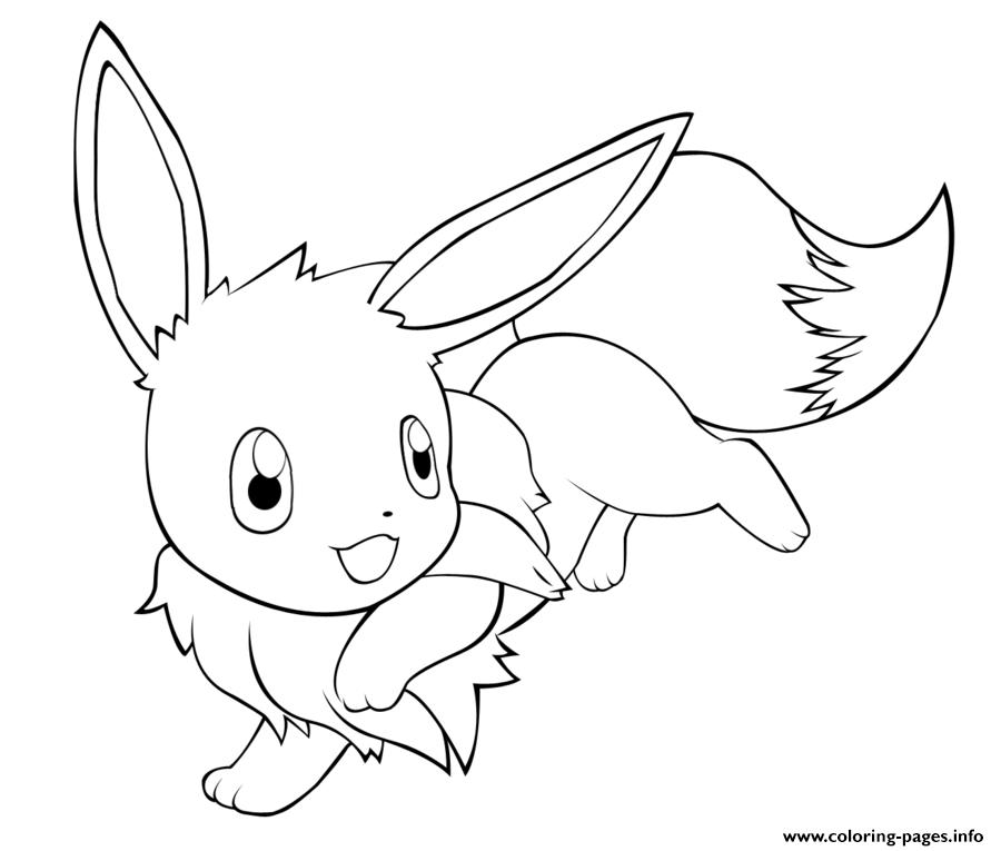 900x765 Eevee Coloring Pages To Print Fair Cute Eevee Pokemon Coloring