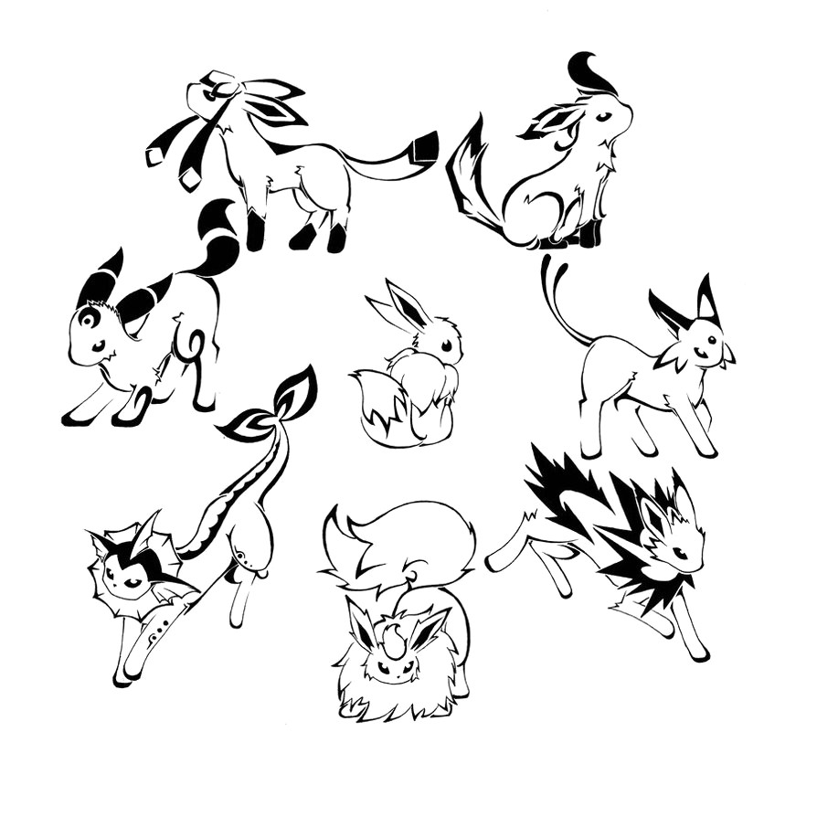Eeveelutions Coloring Pages At Getdrawings Free Download