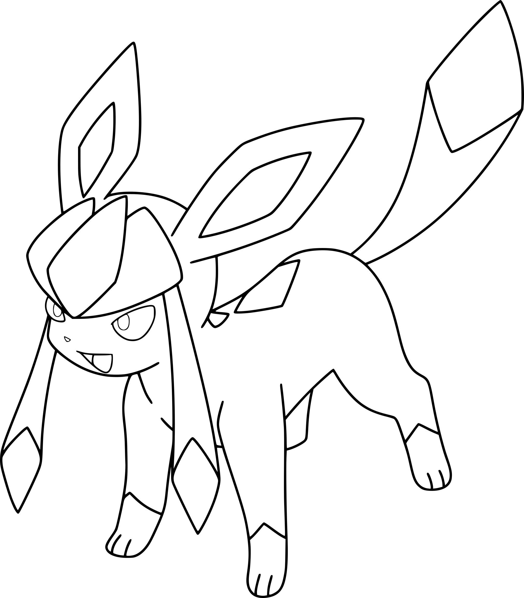 The best free Eevee coloring page images. Download from ...