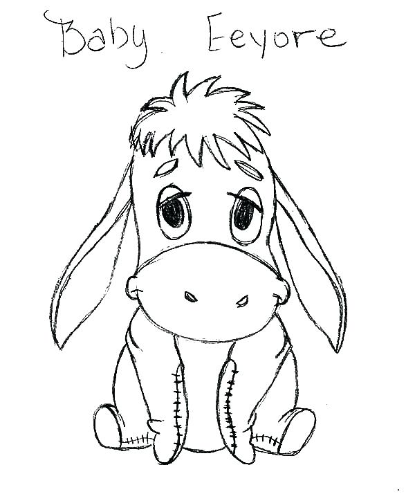 600x727 Eeyore Coloring Pages And Piglet Coloring Pages Disney Eeyore