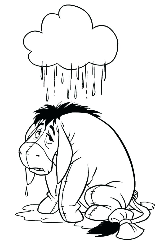 693x1024 Eeyore Coloring Pages Cute Cartoon Friends Pooh Tiger Piglet