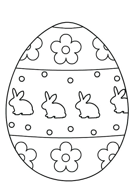 453x635 Easter Egg Coloring Pages Egg Coloring Pages For Kids Easter Egg