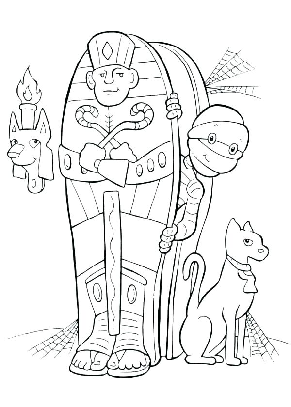 Egyptian Cat Coloring Pages At Getdrawings Com Free For Personal