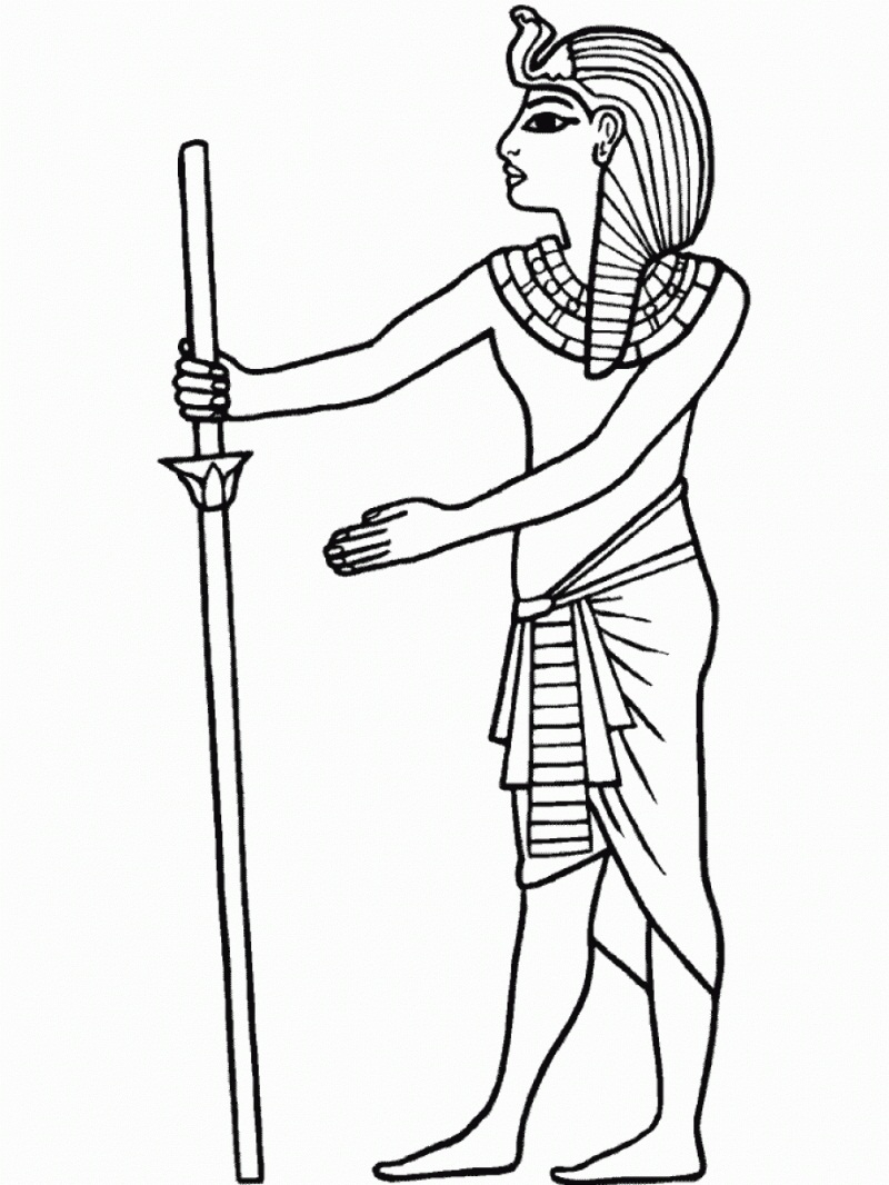 Egyptian Coloring Pages Printable