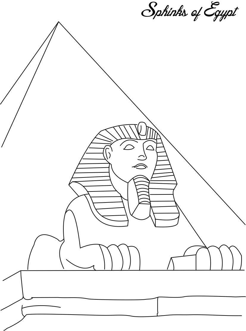 Egyptian Coloring Pages Printable At Getdrawings Com Free For