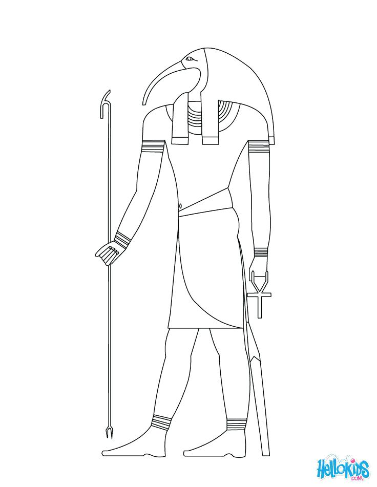 Egyptian Gods Coloring Pages At Getdrawings Com Free For Personal
