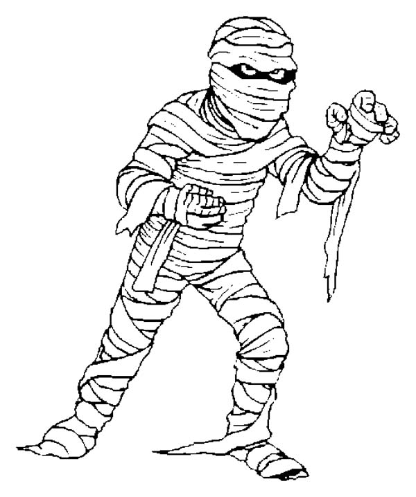Egyptian Mummy Coloring Pages