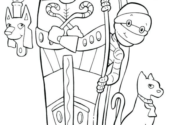 600x425 Egyptian Mummy Coloring Pages Egyptian Mummy Coloring Pages Mummy