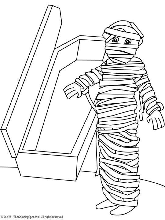 540x720 Egyptian Mummy Coloring Pages For Kids