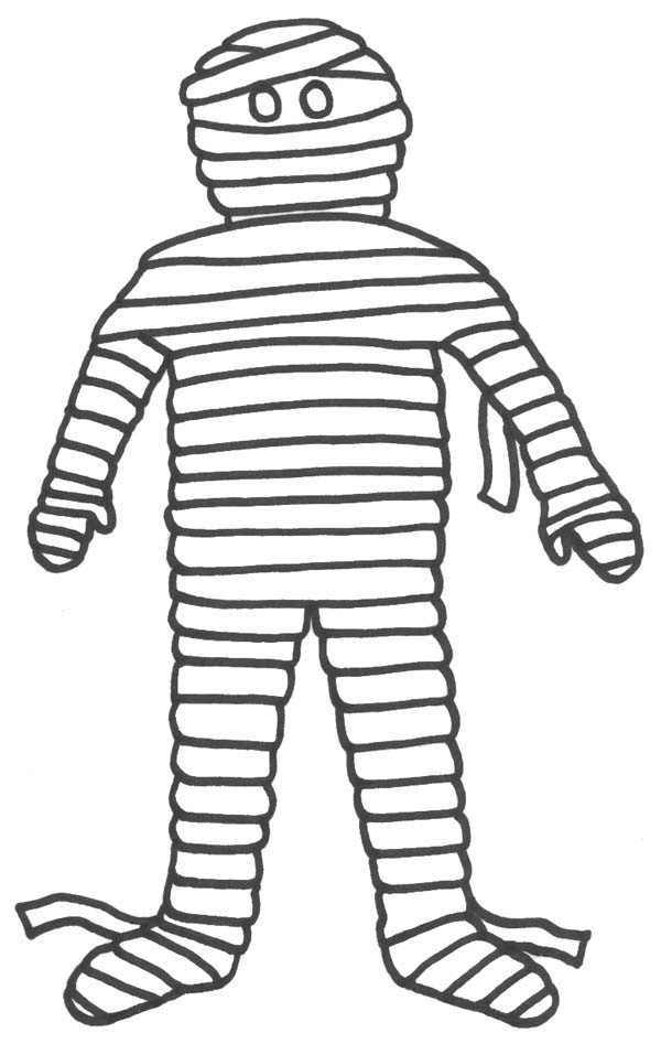 600x947 Mummy Coloring Pages