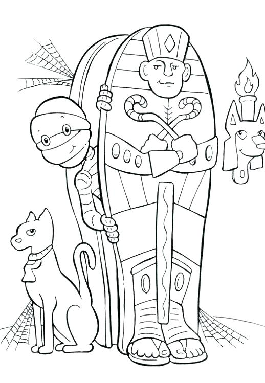 518x749 Mummy Coloring Pages Mummy Coloring Pages Mummy Coloring Pages
