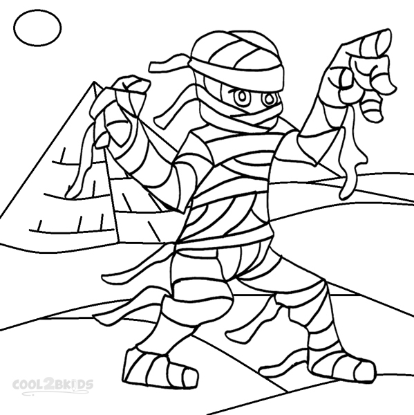 599x600 Egyptian Mummy Coloring Pages