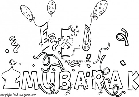 483x338 Eid Mubarak Coloring Pages For Kids