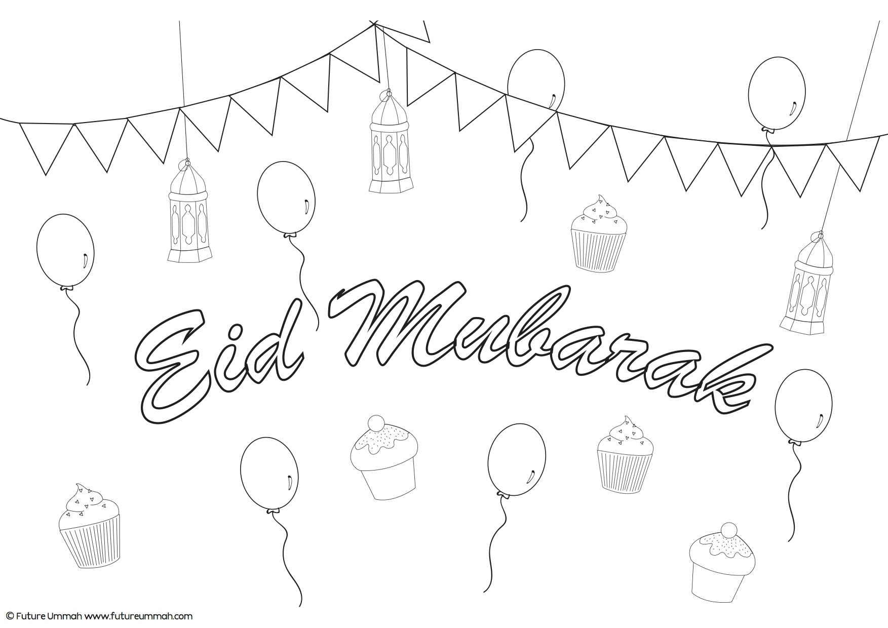1753x1240 Ramadan Mubarak Coloring Pages