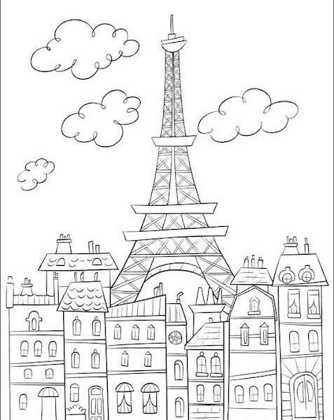 477x600 Eiffel Tower Coloring Page Fee Coloring Pages
