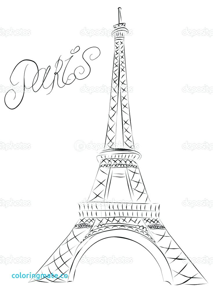 736x1006 Eiffel Tower Coloring Pages Tower Coloring Pages France Eiffel