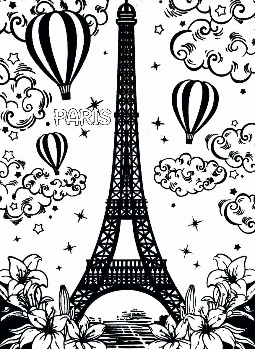 863x1181 Eiffel Tower Coloring Page Awesome Best Eiffel Tower Images