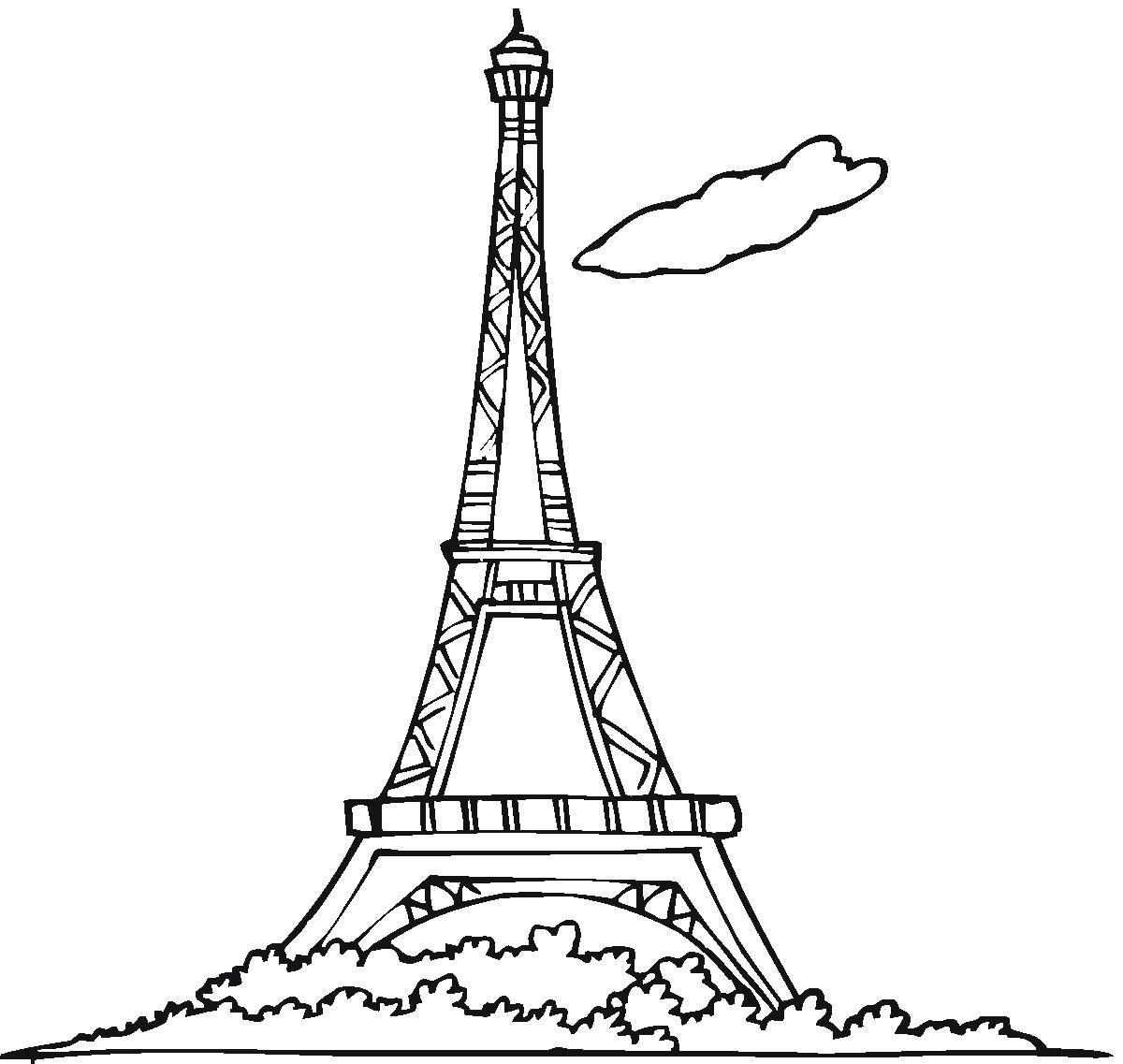 1200x1137 Free Printable Eiffel Tower Coloring Pages For Kids