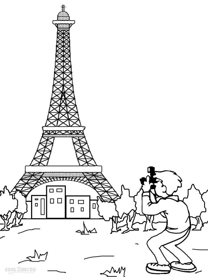 674x900 Printable Eiffel Tower Coloring Pages For Kids