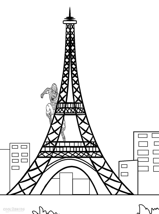 667x900 Printable Eiffel Tower Coloring Pages For Kids