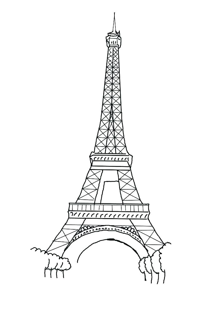 683x1024 Eiffel Tower Coloring Page