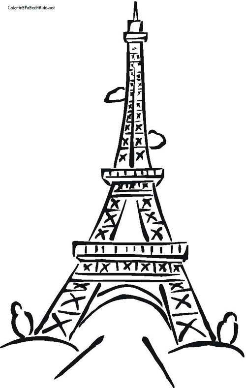 500x789 Eiffel Tower Coloring