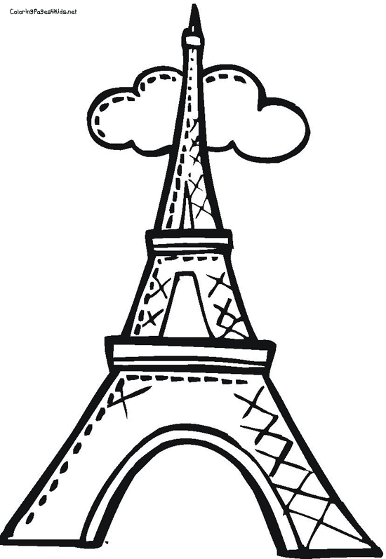 550x797 Eiffel Tower Coloring Page