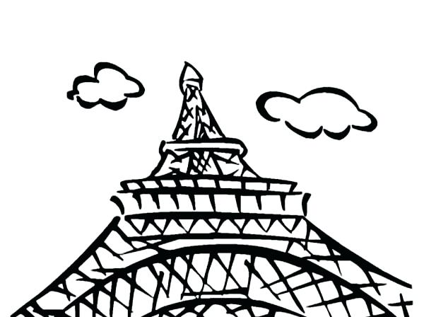 600x448 Eiffel Tower Coloring Page Coloring Book Tower Coloring Page