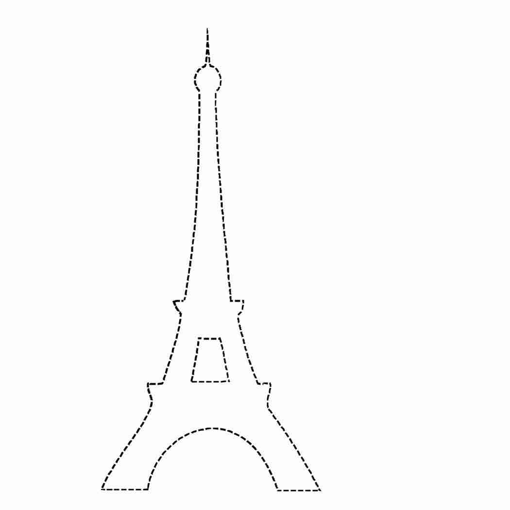 1050x1050 Eiffel Tower Coloring Page New Picture Pages For Kids Printable