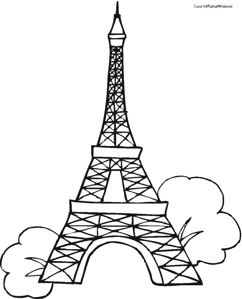 828x1024 Eiffel Tower Coloring Pages Coloring Pages Brilliant Paris
