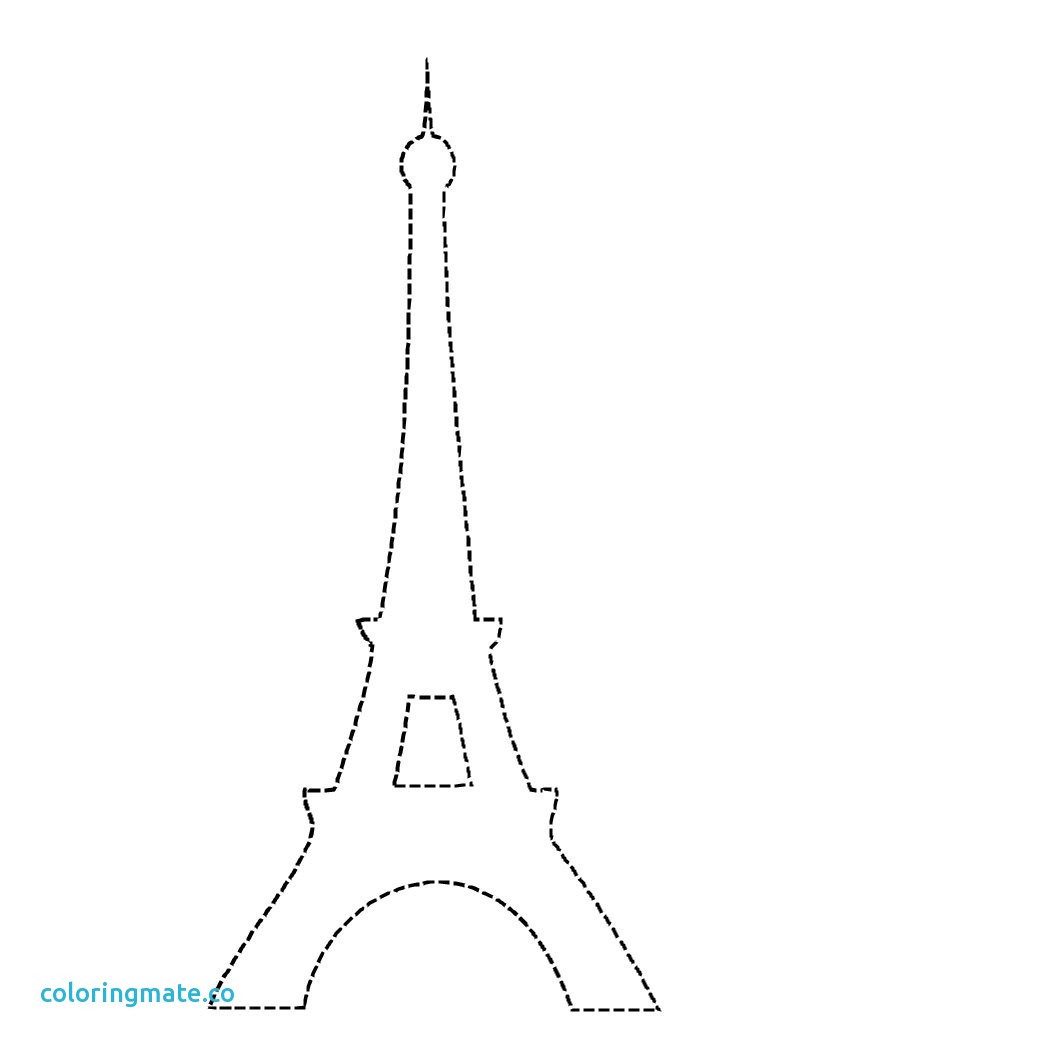 1050x1050 Eiffel Tower Coloring Pages Unique Free Printable Brilliant Sheet