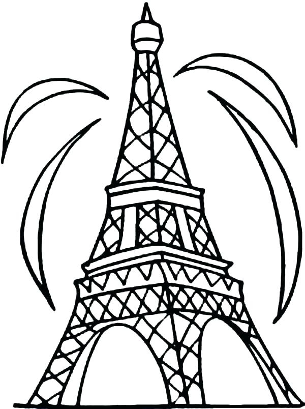 600x804 Eiffel Tower Colouring Sheet Tower Coloring Pages Seine And Tower