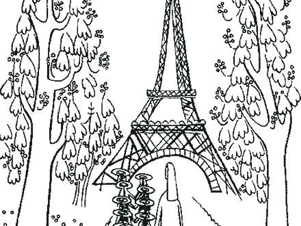 440x330 Eiffel Tower Outline Colouring Page Printable Coloring Pages