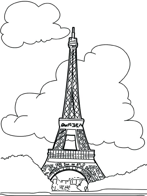 600x800 Eiffel Tower Printable Tower Coloring Pages Plus Tower Coloring