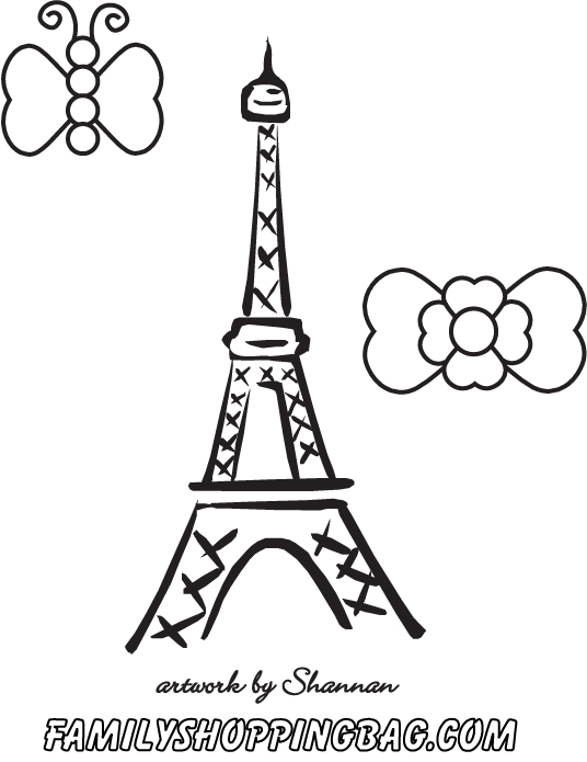 The best free Paris coloring page images. Download from 194 free ...