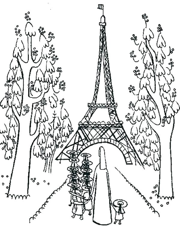 600x780 Printable Pictures Of Eiffel Tower Kids Coloring Tower Coloring