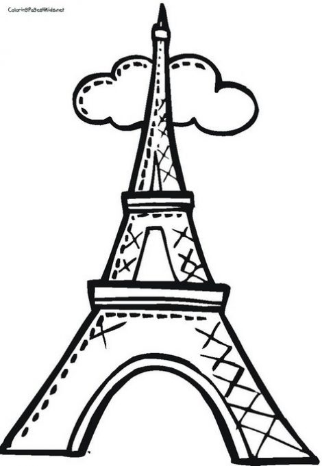 470x681 Eiffel Tower Coloring Pages Coloring Pages For Kids