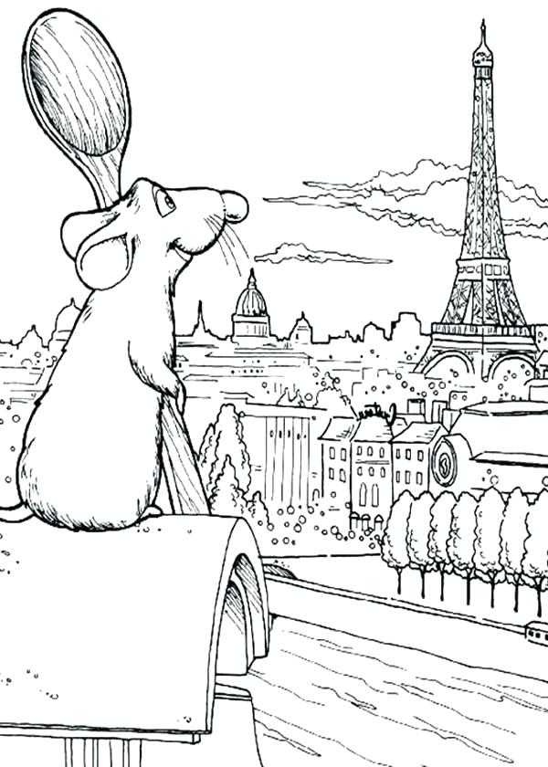 600x840 Eiffel Tower Coloring Tower Coloring Page Free Download Pages