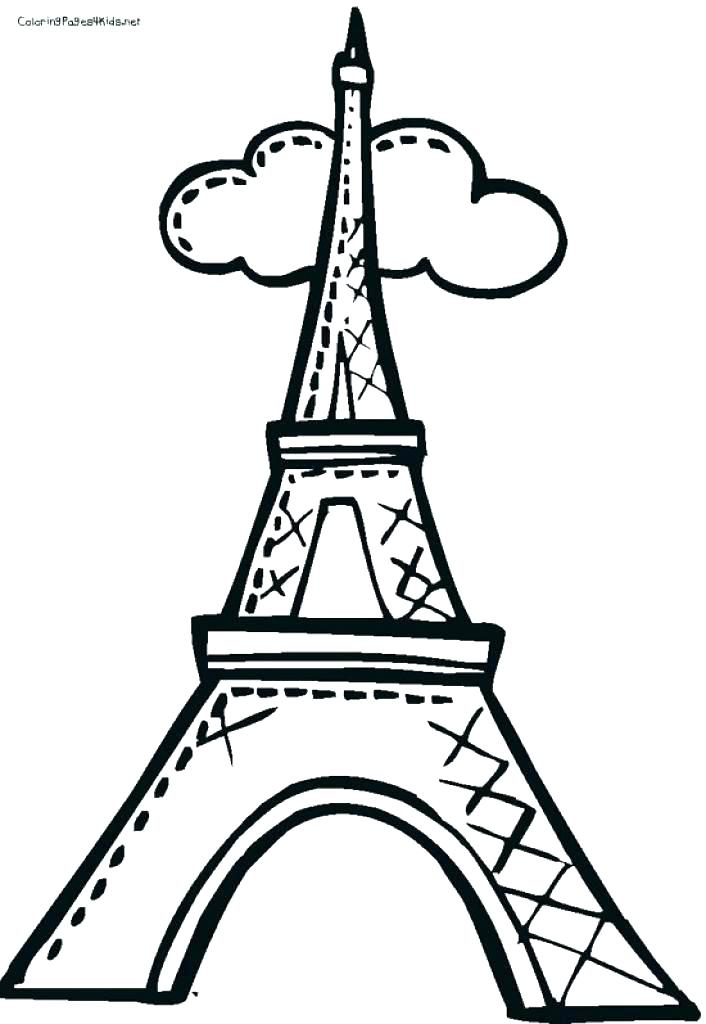 706x1024 Eiffel Tower Colouring Pages Unique Tower Coloring Pages Free