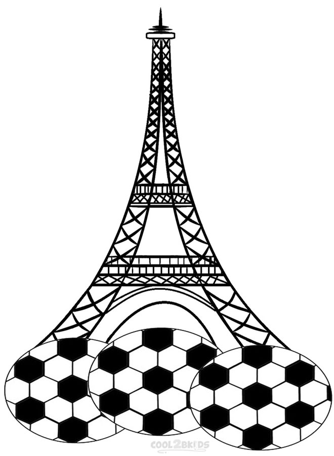 660x900 Printable Eiffel Tower Coloring Pages For Kids