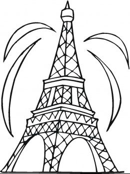 261x349 The Eiffel Tower Coloring Pages Tower, Printable