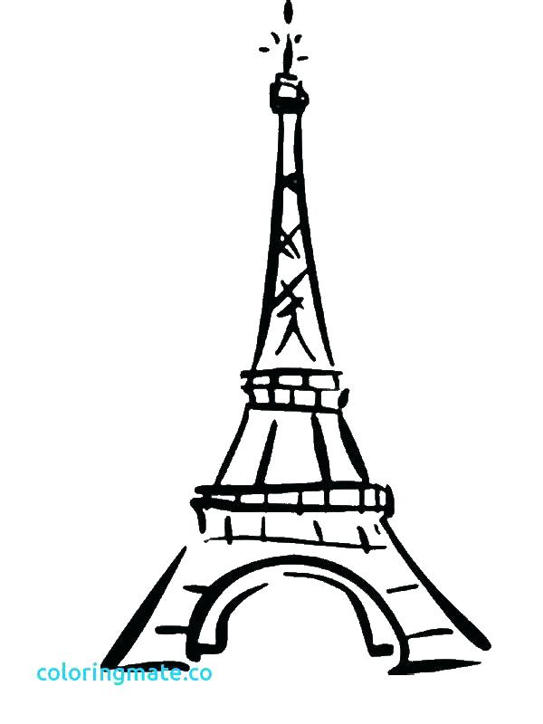 600x800 Tower Coloring Pages Free Coloring Eiffel Tower Outline Colouring