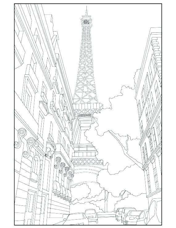 570x738 Unique Tower Coloring Pages Free Download Embroider The In Eiffel